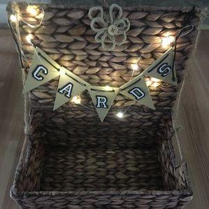 Unbranded Rustic Wedding Light Up Card Box